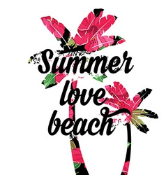 Summer posterTypography vector image vector image