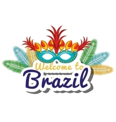 Welcome to brazil representing icons vector