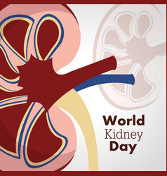 World kidney day poster invitation disease care vector