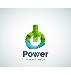 Power button logo template vector