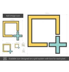 Add image line icon vector