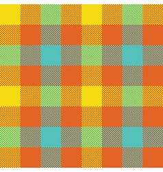 Popart check plaid seamless pattern vector