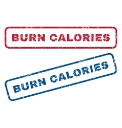 Burn calories rubber stamps vector