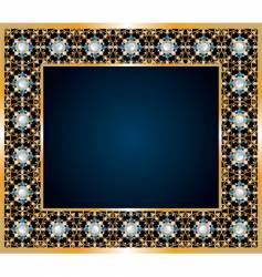 Frame of jewels vector