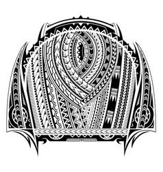 Maori style tattoo sleeve vector