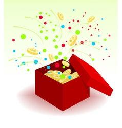 Box with coins vector