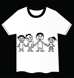 T-shirt with child design vector