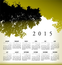 2015 cal Tree Landscape vector image