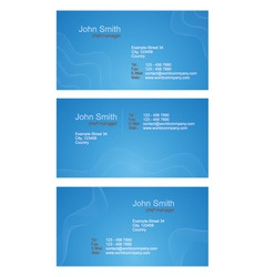 Business cards  blue set vector
