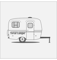 Caravan - mobile House for Camping vector image