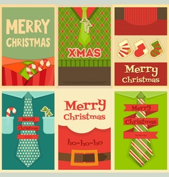 Christmas posters set vector