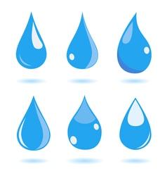 Set of water drops vector image