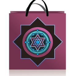 lilac bag stars vector image