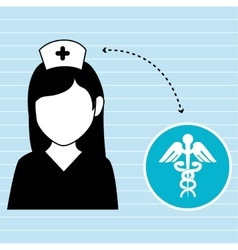 Nurse and symbol of medical isolated icon design vector
