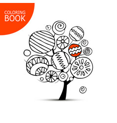 Abstract tree with circles sketch for your vector