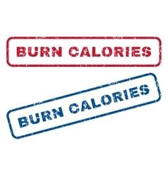 Burn calories rubber stamps vector
