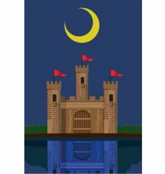 Castle under new moon vector