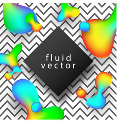 Creative abstract background fluid shapes vector