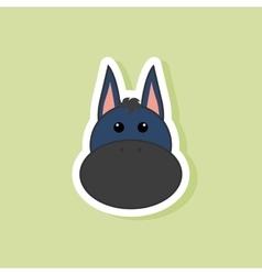 Cute donkey face vector