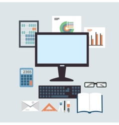 Desktop Accounting vector image vector image