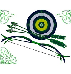 fantasy bow and target vector image vector image