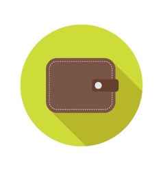 Flat modern round wallet icon vector