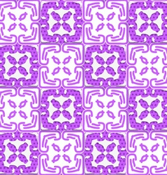 Geometrical deep purple ornament with texture vector