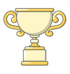goblet icon cartoon style vector image