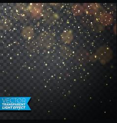 golden christmas lights on a dark vector image