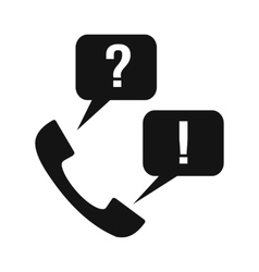 Handset with question and answer vector image