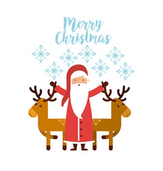 happy merry christmas card vector image