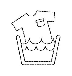 laundry basin soap tshirt water clean vector image