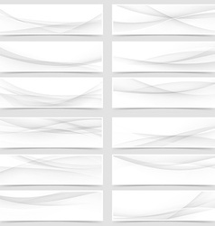 Mega web header footer banner collection vector