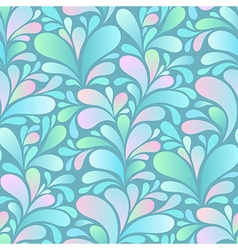 paisley pattern blue vector image vector image