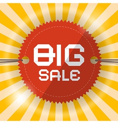 Retro big sale template vector