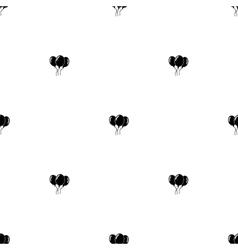 Seamless pattern Black balloons vector image vector image