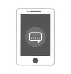 smartphone mobile technology isolated icon vector image