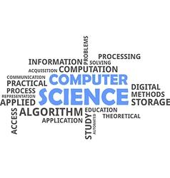 Word cloud computer science vector