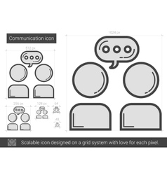 Communication line icon vector