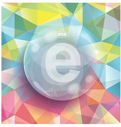 Glass bubble on abstract geometric 3D background vector image