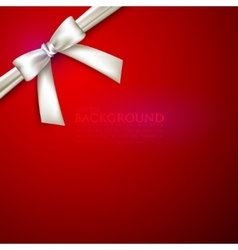Red background with white bow vector