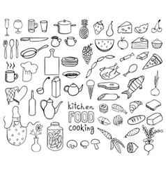Food and cooking icons collection vector
