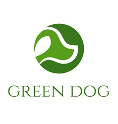 Green dog veterinary concept vector