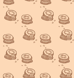 Cute cookies seamless pattern vector