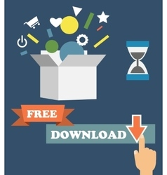 Infographics depicting freemium business vector