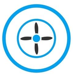 Aircraft screw icon vector