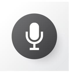 audio icon symbol premium quality isolated mike vector image
