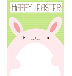 Background with pink Easter rabbit vector image