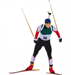 biathlon skier vector image vector image