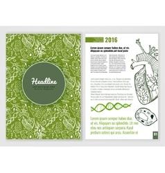 Biological brochure vector